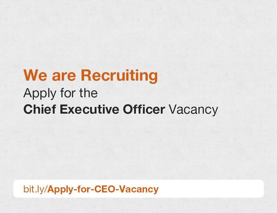 Chief Executive Officer, AFRINIC