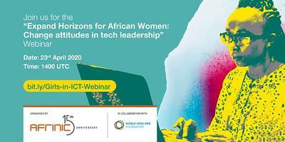 Participate in AFRINIC's next webinar in the context of the International Girls in ICT Day 2020